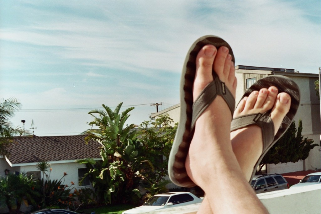 Kicking the feet up at 1084 Monterey in Hermosa Beach.