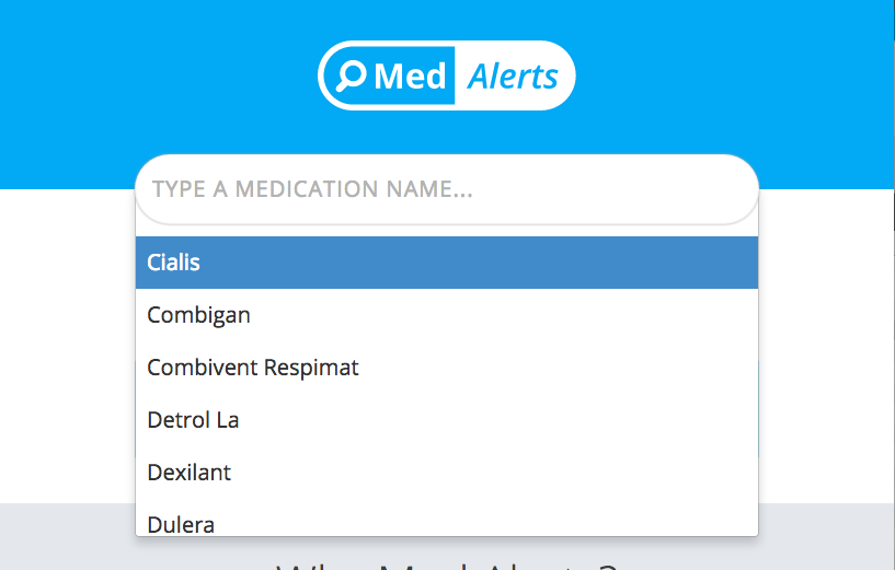 med alerts search